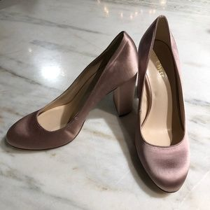 Nine West Satin Block Heel Pumps